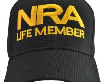 NRA Life Member black hat