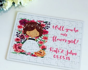 Will you be our flower girl jigsaw puzzle, will you be my flower girl gift, flower girl gift, flower girl proposal, flower girl jigsaw