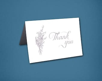 Lily of the Valley Thank You Cards • Thank Yous • Bridal Shower • Wedding Thank you • Thank You Card • Floral • Lily of the Valley • Flowers