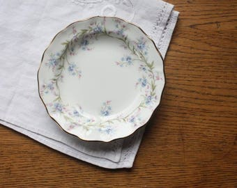 Trinket Dish Duchess 'Tranquility' ~ Vintage Bone China Pin Dish Butter Dish Blue Flowers ~ Gift for Her