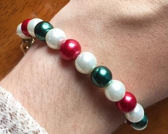 Christmas Wonder Pearl Bracelet