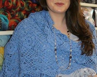 Crochet Pattern - Lacy Wrap, Shawl.