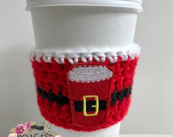 "The ""Christmas Drink"" Cozies / Coffee Cozie / Tea Cozie / Tumbler Cozie / Crochet Cozie"