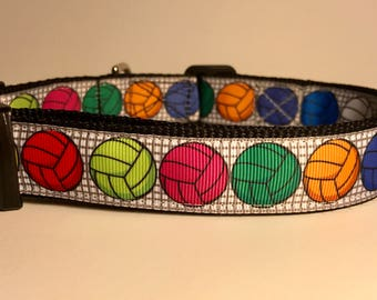 "Volleyball themed dog collar - 1"" wide!!"