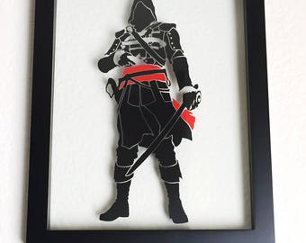 Edward Kenway Framed Vinyl Wall Art   Picture   Assassin's Creed   Nothing is True Everything is Permitted   Altair   Ezio Auditore   decal