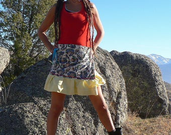 coton skirt with indian patterns
