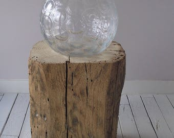Block of wood table