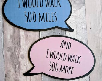 500 Miles Pair of Speech Bubble Photo Booth Props 013-841