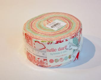 Jelly roll modern Hello Darling by Bonnie and Camille of Moda Quilt Fabric  cotton Out of print hard to find