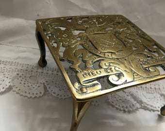 A beautiful brass Trivet