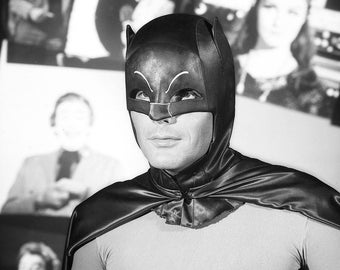 Adam West  , PHOTOGRAPH ..... star of the Batman Tv Show from the 1960 's  , the Batman Television Series