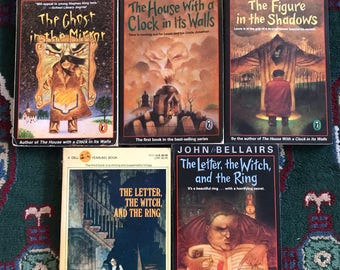 John Bellairs 5 mystery books