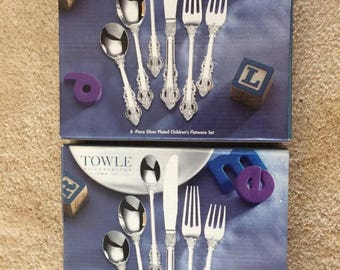 Towle 6-Piece Silver Plated Children's Flatware Sets