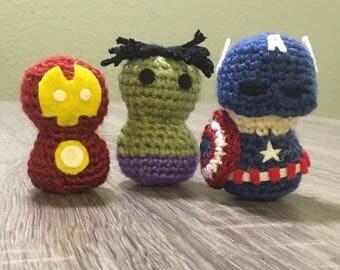 Mini Marvel superheroes
