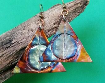 Handmade Copper Earrings- Harry Potter Inspired