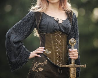 Medieval iron butterfly corset