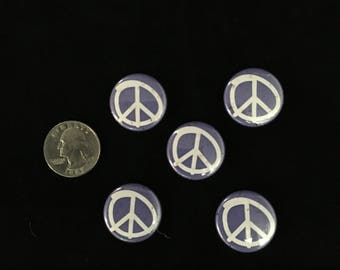 Lot of 5 Peace Buttons button Pins Pinback