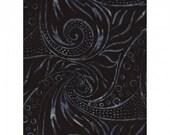 Fresh Water Designs 100% cotton Java Batik Indigo - Sketched Leaves