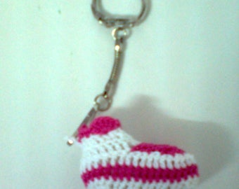 Crochet slippers keychain