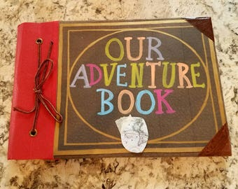 NEW size!!!! Our Adventure Book,  My Adventure Book,  Up Movie Book, Ellie's Book, Wedding Guest Book, 5 x 7