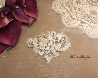 Train wedding white lace flower clip brooch * 3 lace *.