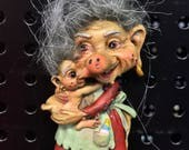 Mother & Child Troll Magnet
