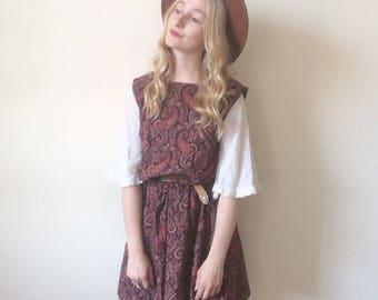 Vintage Handmade Paisley Shift Dress