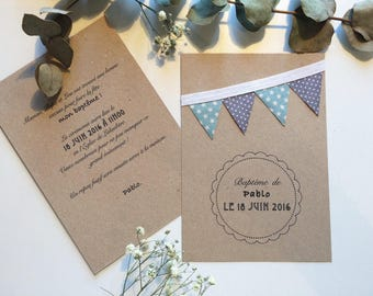 Make wedding christening hand flags