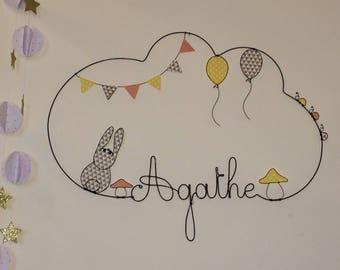 Name wire rabbit, balloons, mushroom