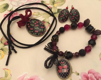 romantic set cherries