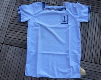 old French colonial Navy shirt