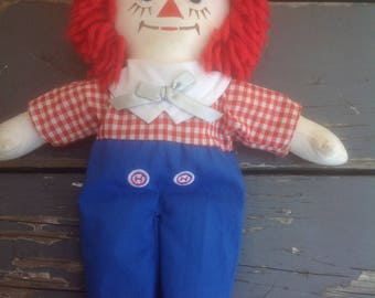 Raggedy Andy Doll 12 inches Tall