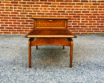 Lane Mid Century End Table   Step End Table