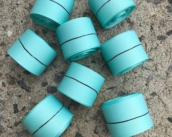 "1.5"" Aqua Blue Light Blue Solid Grosgrain Ribbon 5 YARDS"