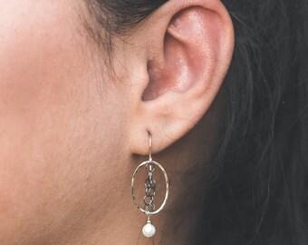 Statement Earrings Gift for Woman - Boho Earrings Wife - Gold Dangle Earrings for Women