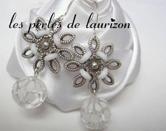 frozen pearls mouchetees stars earrings