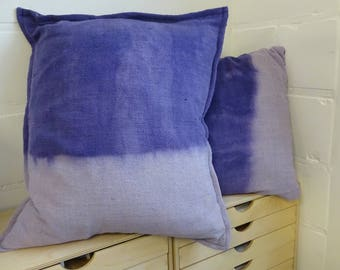 Linen Cushion, Vegetable dyed