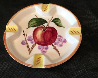 Apple Ashtray ~ Japan ~ Trinket Holder ~ Catch all ~ Shabby Chic ~ Retro ~ Vintage