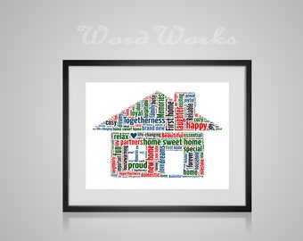 Personalised New Home Word Art Buy 3 Prints Get The 4th Free