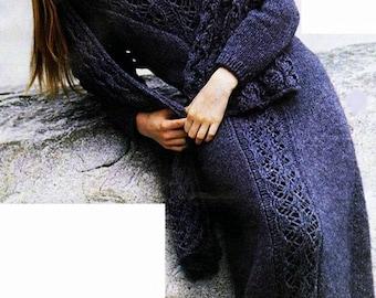 Long dress blue wool / order