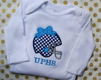 Girls Football Shirt, Football Onesie, Football Bow Shirt, Football Outfit