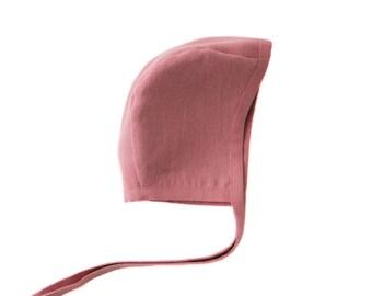 Wine Linen Bonnet