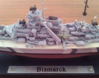 """Model of the ship """"Bismarck!"""