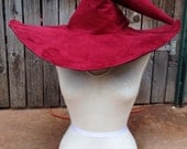Extra Large Wine/Burgundy Witch or Wizard Hat