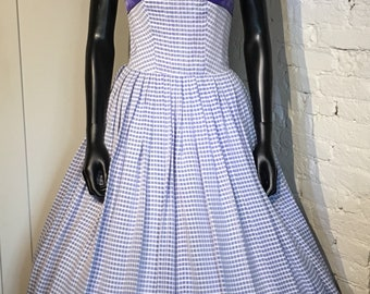 Original Vintage 1950s/1960s Petite Dress with Bow Detail by Susan Small
