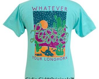 Girlie Girl Originals Lassos Scuba Blue Short Sleeve T-Shirt