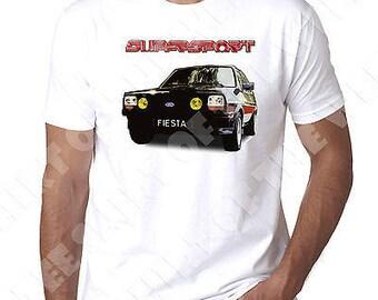 Ford Fiesta Mk1 1300 Supersport printed T shirt 100% Cotton