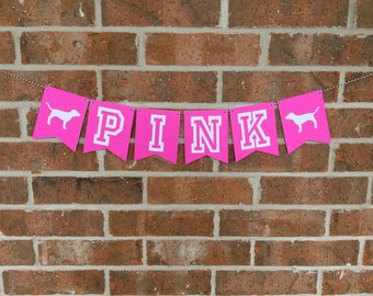 PINK Banner... Pink party... Sweet 16... Sweet 18... Teen