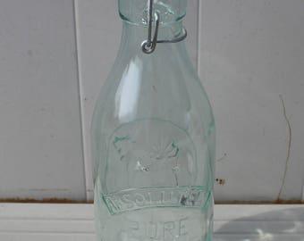 Jug Absolutely Pure Milk Green Tinted Bottle Jug Milk Jug Milk Bottle Cow