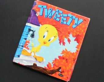 Vintage 1953 Tweety Bird Whitman Tell A Tale Children's Book #2481 Warner Brothers Cartoon with Sylvester and Friends ~ 8455
